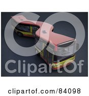 Royalty Free RF Clipart Illustration Of A 3d Curvy City Bus
