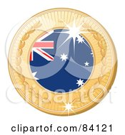 3d Golden Shiny Australia Medal