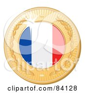 3d Golden Shiny France Medal