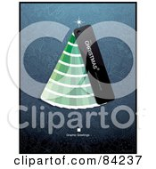 Royalty Free RF Clipart Illustration Of A Christmas Tree Made Of Green Paint Color Swatches
