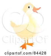 Royalty Free RF Clipart Illustration Of A Happy White Duck by Alex Bannykh