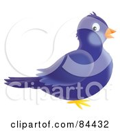 Royalty Free RF Clipart Illustration Of A Blue Airbrushed Bird