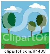 Royalty Free RF Clipart Illustration Of A Summer Time Park With Trees