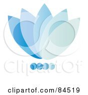 Royalty Free RF Clipart Illustration Of A Gradient Blue Floral Logo Design by Pams Clipart