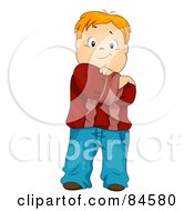 Royalty Free RF Clipart Illustration Of A Little Boy Posing With His Arms Crossed