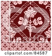Royalty Free RF Clipart Illustration Of A Seamless Repeat Background Of A Pink And Red Corner Design by BestVector