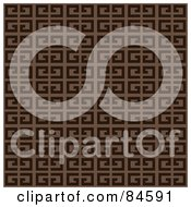 Royalty Free RF Clipart Illustration Of A Seamless Repeat Background Of Two Toned Brown Blocks