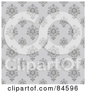 Royalty Free RF Clipart Illustration Of A Seamless Repeat Background Of Gray Flourishes On Gray by BestVector