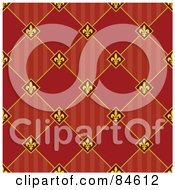 Royalty Free RF Clipart Illustration Of A Seamless Repeat Background Of Fleur De Lis Diamonds With Stripes And Solids by BestVector