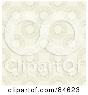 Royalty Free RF Clipart Illustration Of A Seamless Repeat Background Of Faint Swirly Rings On Beige