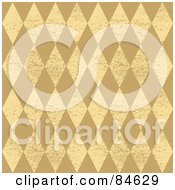 Royalty Free RF Clipart Illustration Of A Seamless Repeat Background Of Grungy Beige And Tan Diamonds