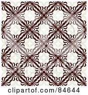 Royalty Free RF Clipart Illustration Of A Seamless Repeat Background Of Brown Crest Designs by BestVector