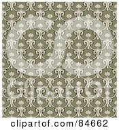 Royalty Free RF Clipart Illustration Of A Seamless Repeat Background Of Beige Loops On Tan