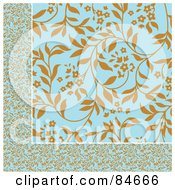 Royalty Free RF Clipart Illustration Of A Seamless Repeat Background Of Brown And Blue Border And Background by BestVector