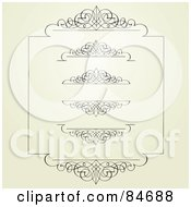 Royalty Free RF Clipart Illustration Of A Digital Collage Of Swirl Borders And Headers