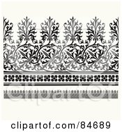Royalty Free RF Clipart Illustration Of A Digital Collage Of Different Black Borders