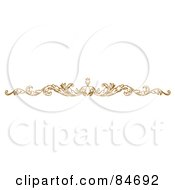 Royalty Free RF Clipart Illustration Of An Ornate Floral Border On White