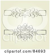 Royalty Free RF Clipart Illustration Of A Digital Collage Of Two Swirl Headers