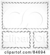 Royalty Free RF Clipart Illustration Of A Digital Collage Of Black And White Text Boxes Version 4