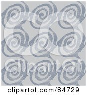 Royalty Free RF Clipart Illustration Of A Seamless Repeat Background Of Work Thumbprint Or Spiral Patterns On Gray