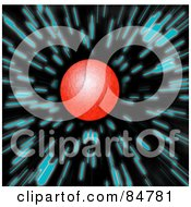 Royalty Free RF Clipart Illustration Of A Red Planet Zooming Past Blue Stars In Space
