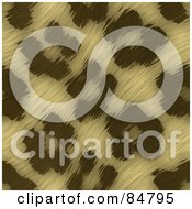 Royalty Free RF Clipart Illustration Of A Textured Background Of Leopard Print Fur Pattern by Arena Creative