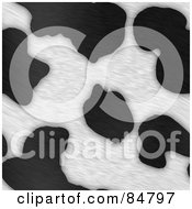 Royalty Free RF Clipart Illustration Of A Background Of Black And White Dairy Cow Fur Print Pattern