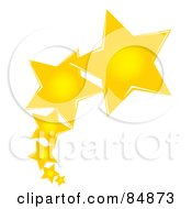 Royalty Free RF Clipart Illustration Of A Line Of Shooting Yellow Stars