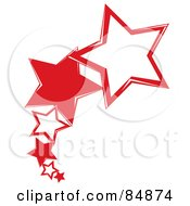 Royalty Free RF Clipart Illustration Of A Line Of Shooting Red Stars by Pams Clipart