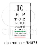 Royalty Free RF Clipart Illustration Of A Black White Green And Red Eye Chart