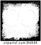Royalty Free RF Clipart Illustration Of A Grungy Emo Black And White Background With Text Space