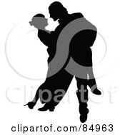 Tango Dancing Couple In Silhouette Pose 2