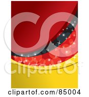 Royalty Free RF Clipart Illustration Of A Red Yellow And Black Sparkly German Colored Background Version 3