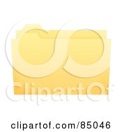 Royalty Free RF Clipart Illustration Of A 3d Yellow Filing Folder Slightly Open by oboy