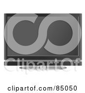 Royalty Free RF Clipart Illustration Of A Flat Screen Television Set