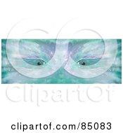 Turquoise And Purple Eyes Peering