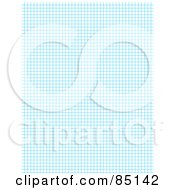 Royalty Free RF Clipart Illustration Of A Background Of Blue Grid Lines On White