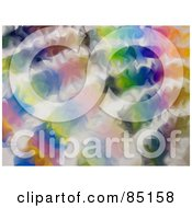 Royalty Free RF Clipart Illustration Of A Funky Colorful Psychedelic Background Design 3