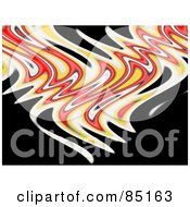 Royalty Free RF Clipart Illustration Of Red Yellow And White Flames On Black