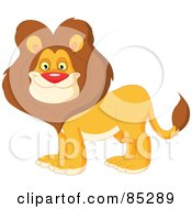 Royalty Free RF Clipart Illustration Of A Handsome Male Lion With A Thick Mane by yayayoyo