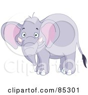 Royalty Free RF Clipart Illustration Of A Happy Pachyderm Smiling by yayayoyo