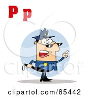 Royalty Free RF Clipart Illustration Of A Cop With Letters C by Hit Toon
