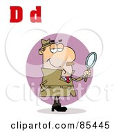 Royalty Free RF Clipart Illustration Of A Detective With Letters D by Hit Toon