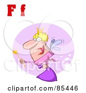 Royalty Free RF Clipart Illustration Of A Fairy With Letters F