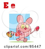 Royalty Free RF Clipart Illustration Of An Easter Bunny With Letters E by Hit Toon