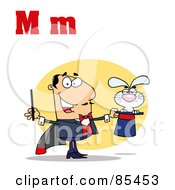 Royalty Free RF Clipart Illustration Of A Magician With Letters M by Hit Toon