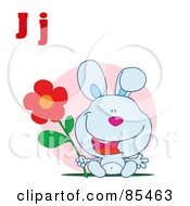 Royalty Free RF Clipart Illustration Of A Rabbit With Letters J by Hit Toon