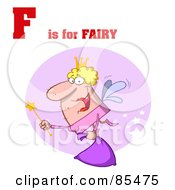 Royalty Free RF Clipart Illustration Of A Fairy With F Is For Fairy Text