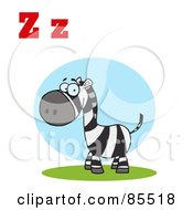 Royalty Free RF Clipart Illustration Of A Zebra With Letters Z by Hit Toon