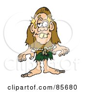Royalty Free RF Clipart Illustration Of A Blond Hunchback Man by Spanky Art